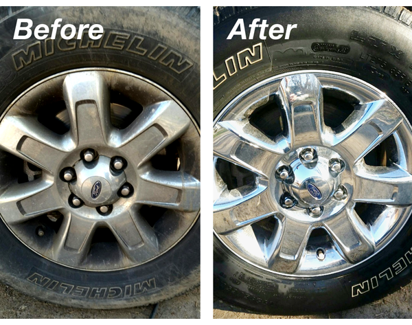 Tires - Before and After Cleaning with SRS500