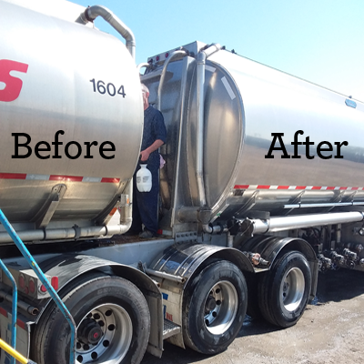 Harold Marcus Truck, Before and After cleaning with SRS 500