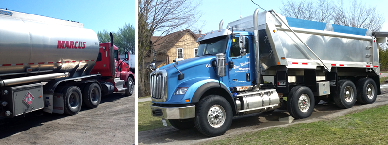 Trucks cleaned with SRS400