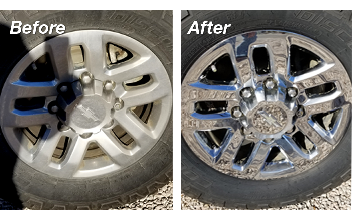 Tires, before and after