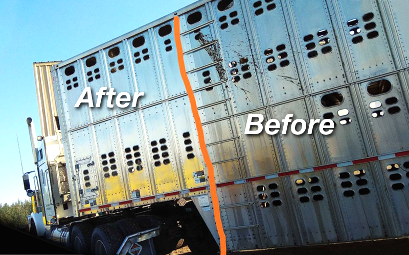 Trailer, before and after